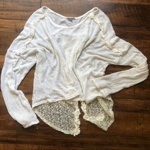 Charlotte Russe light knit, open back long sleeve